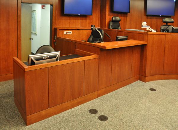 Courtroom Furniture Judges Bench Desk Mock Courtroom