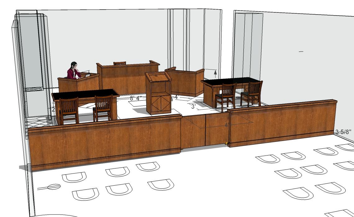 Arnold Reception Desks, Inc. - Courtroom: KENT STYLE