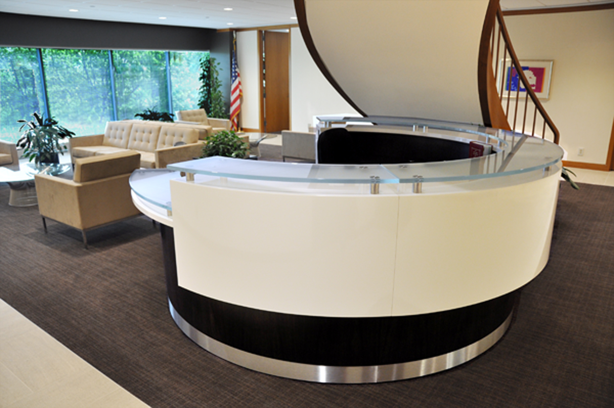 Arnold Reception Desks Inc Contemporary Reception Desk